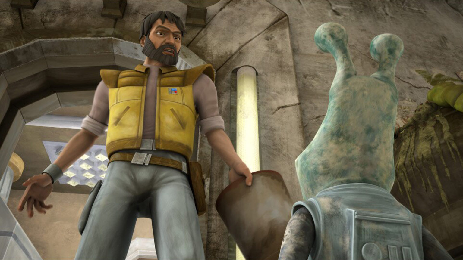 """Colonel Gascon and Gregor in The Clone Wars """"Missing in Action"""""""