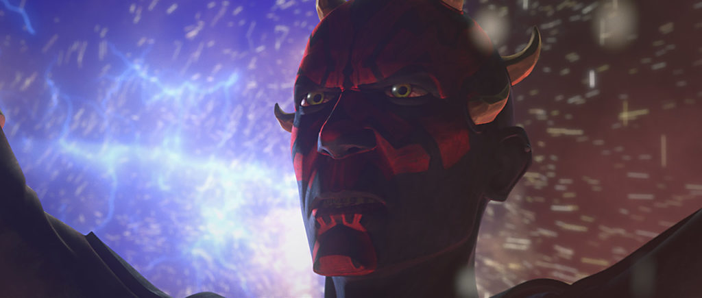 Maul destroying the hyperdrives