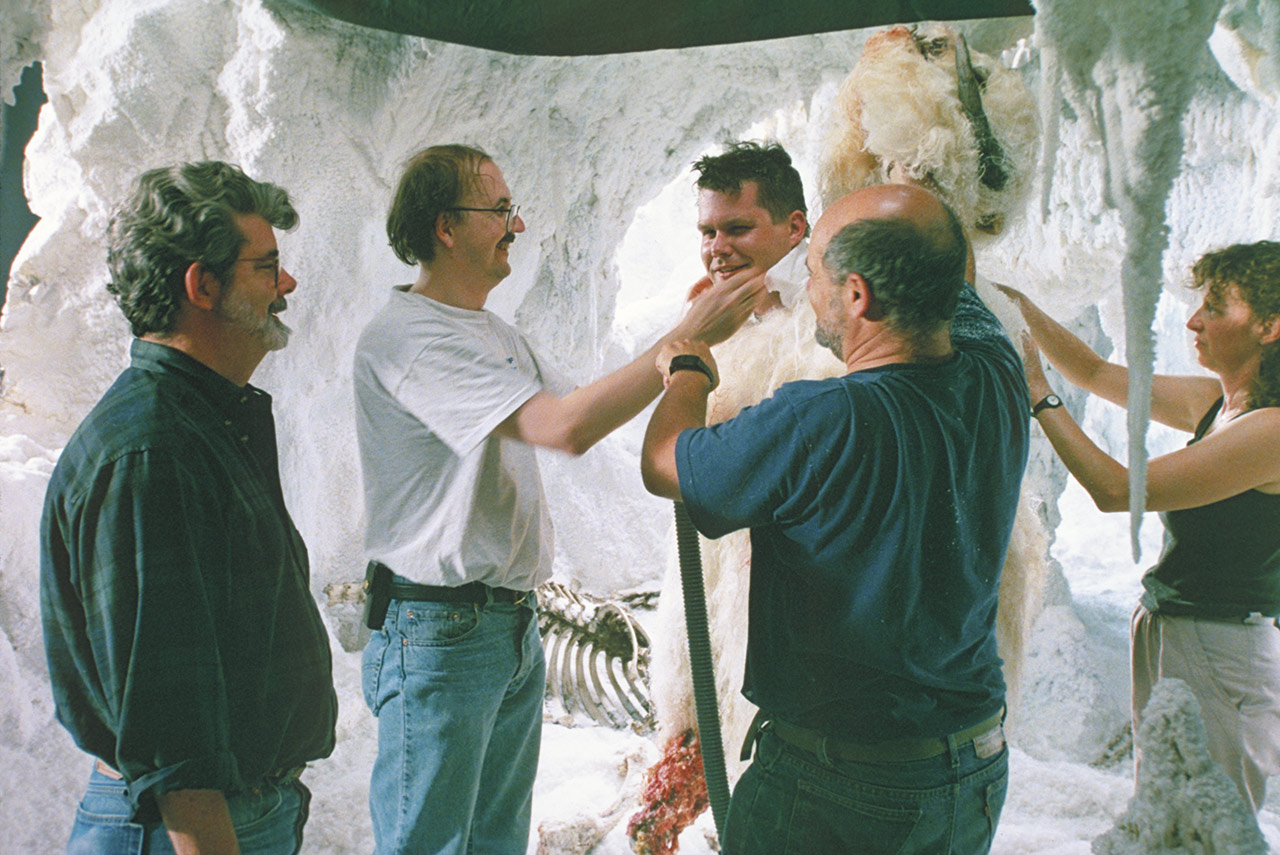 On the set of Hoth in The Empire Strikes Back