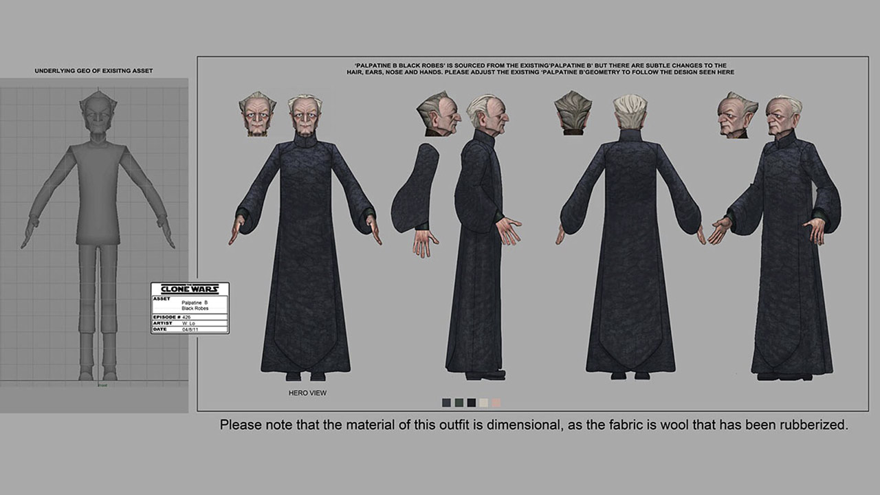 """The Clone Wars """"Revival"""" Palpatine concept art"""