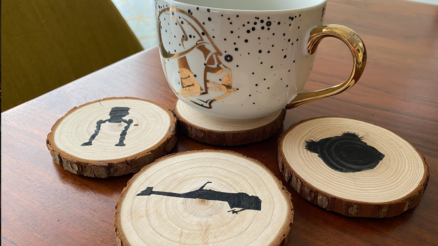 Bring Endor Indoors With These Diy Wood Coasters Starwars Com