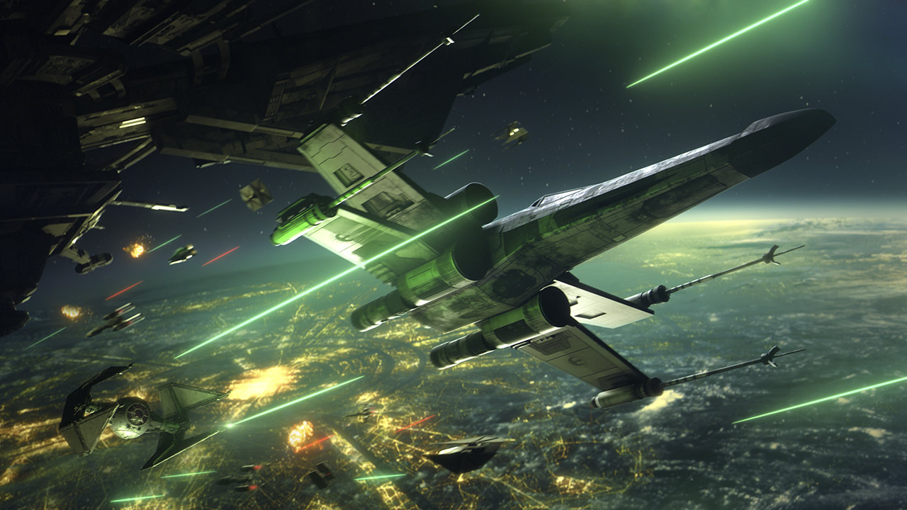 star Wars: Squadrons starfighters