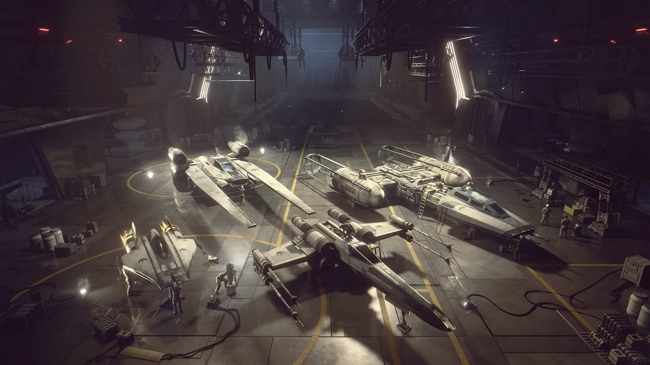 Star Wars: Squadrons New Republic hangar