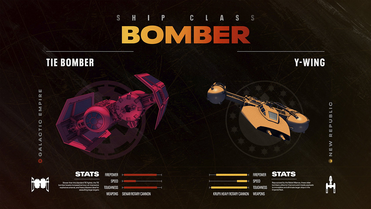Star Wars: Squadrons bomber ships