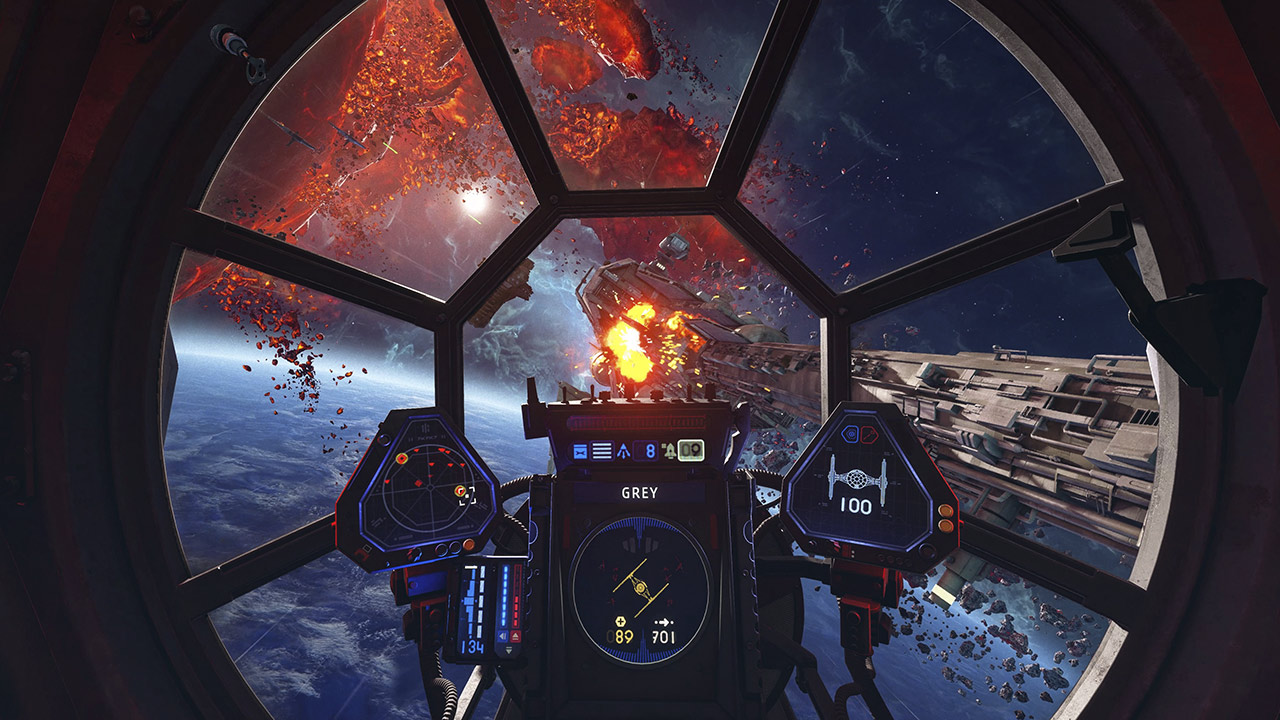 Star Wars: Squadrons TIE combat