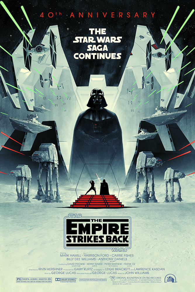 The Empire Strikes Back 40th anniversary poster by Matt Ferguson