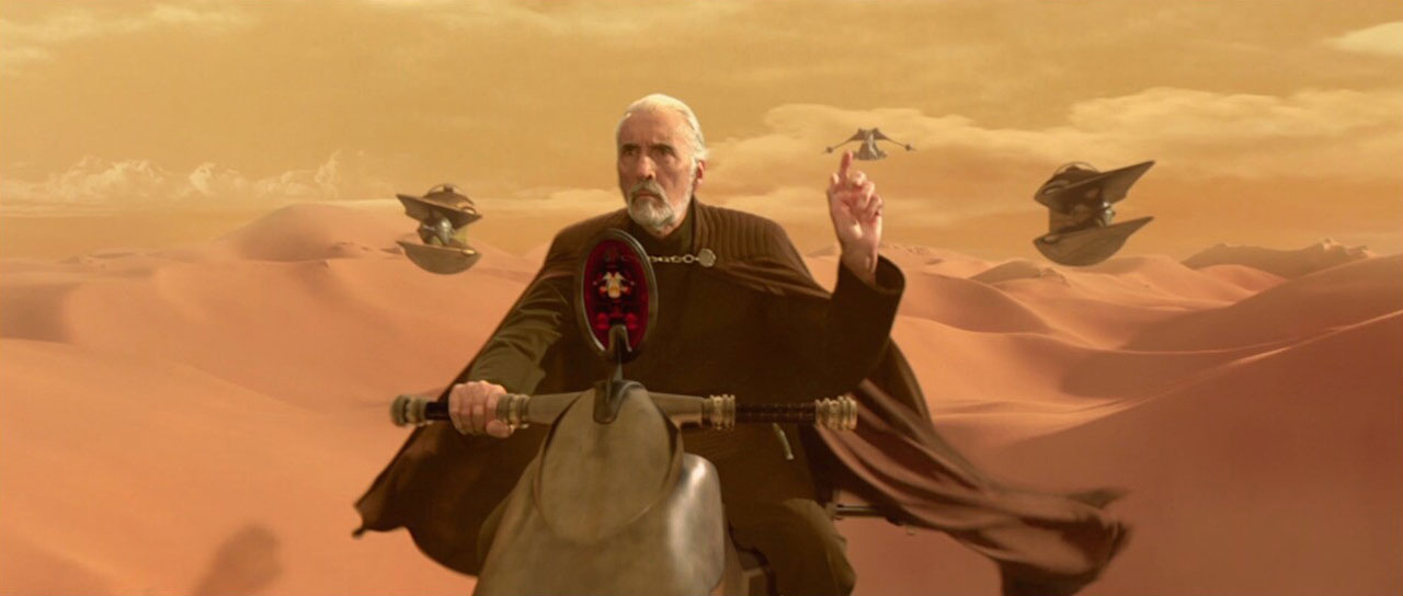 Dooku on Geonosis