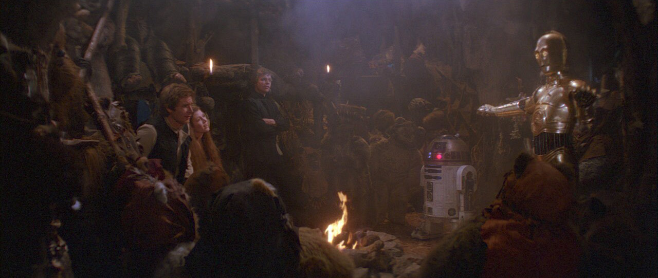 A scene from Return fo the Jedi