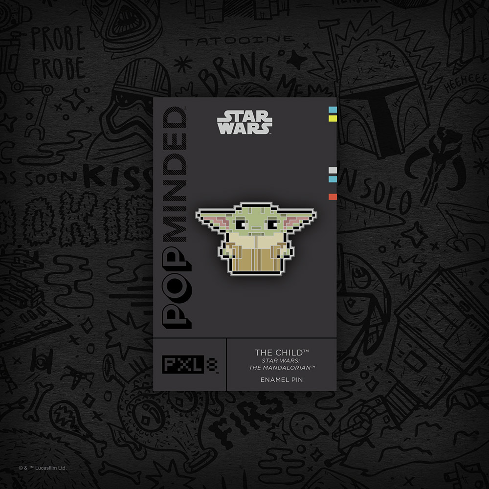 The Mandalorian The Child PXL8 Enamel Pin