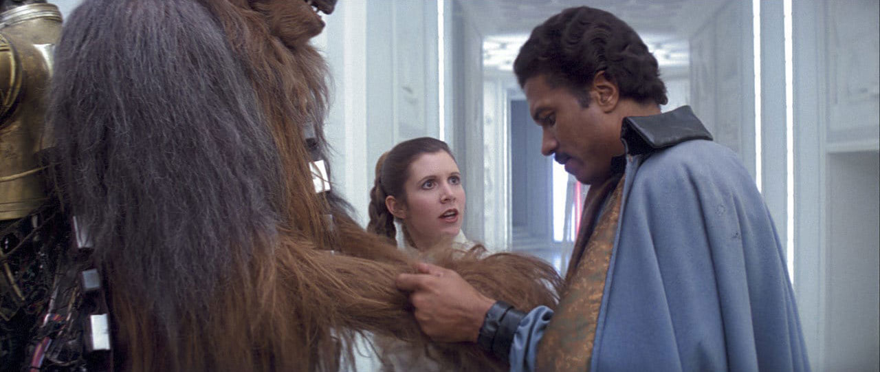 Lando freeing Chewie in The Empire Strikes Back
