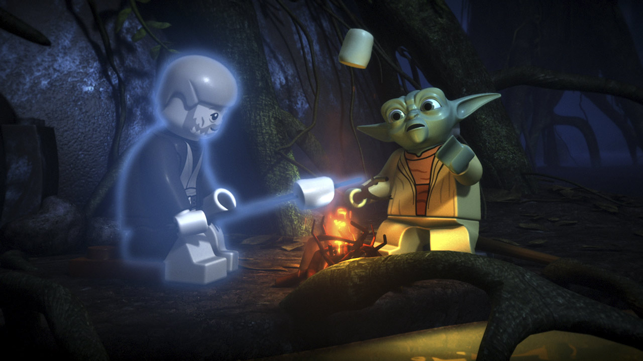 Yoda and the ghost of Obi-wan Kenobi