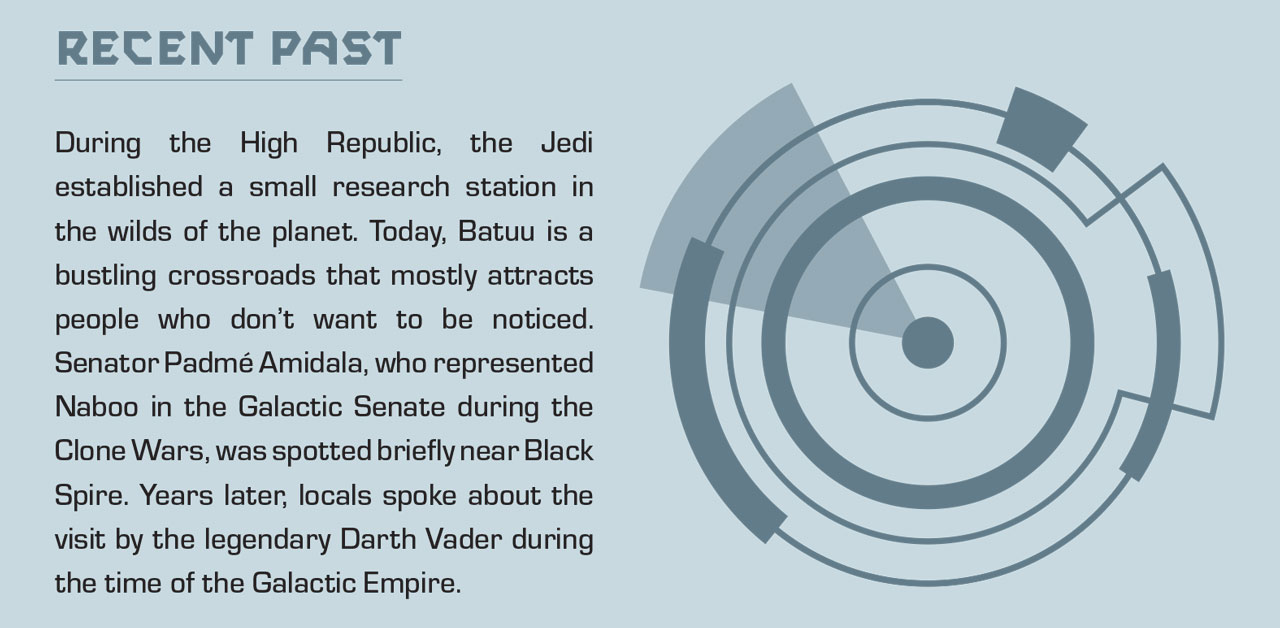 Excerpt from Star Wars: Galaxy's Edge: Traveler's Guide to Batuu