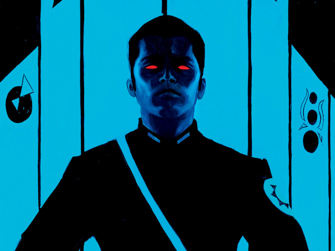 Thrawn from Thrawn Ascendancy: Chaos Rising Barnes & Noble edition art