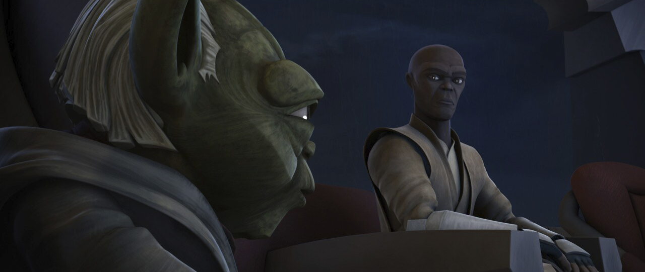 "A scene from ""To Catch a Jedi"""
