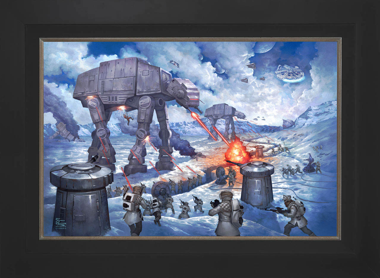 Art Brand The Battle of Hoth Limited Edition Canvas by Thomas Kinkade Studios