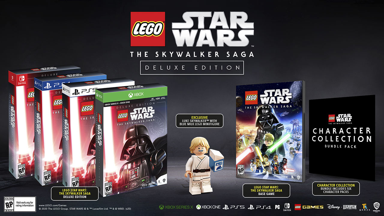 LEGO Star Wars: The Skywalker Saga Deluxe Edition box art character collection bundle
