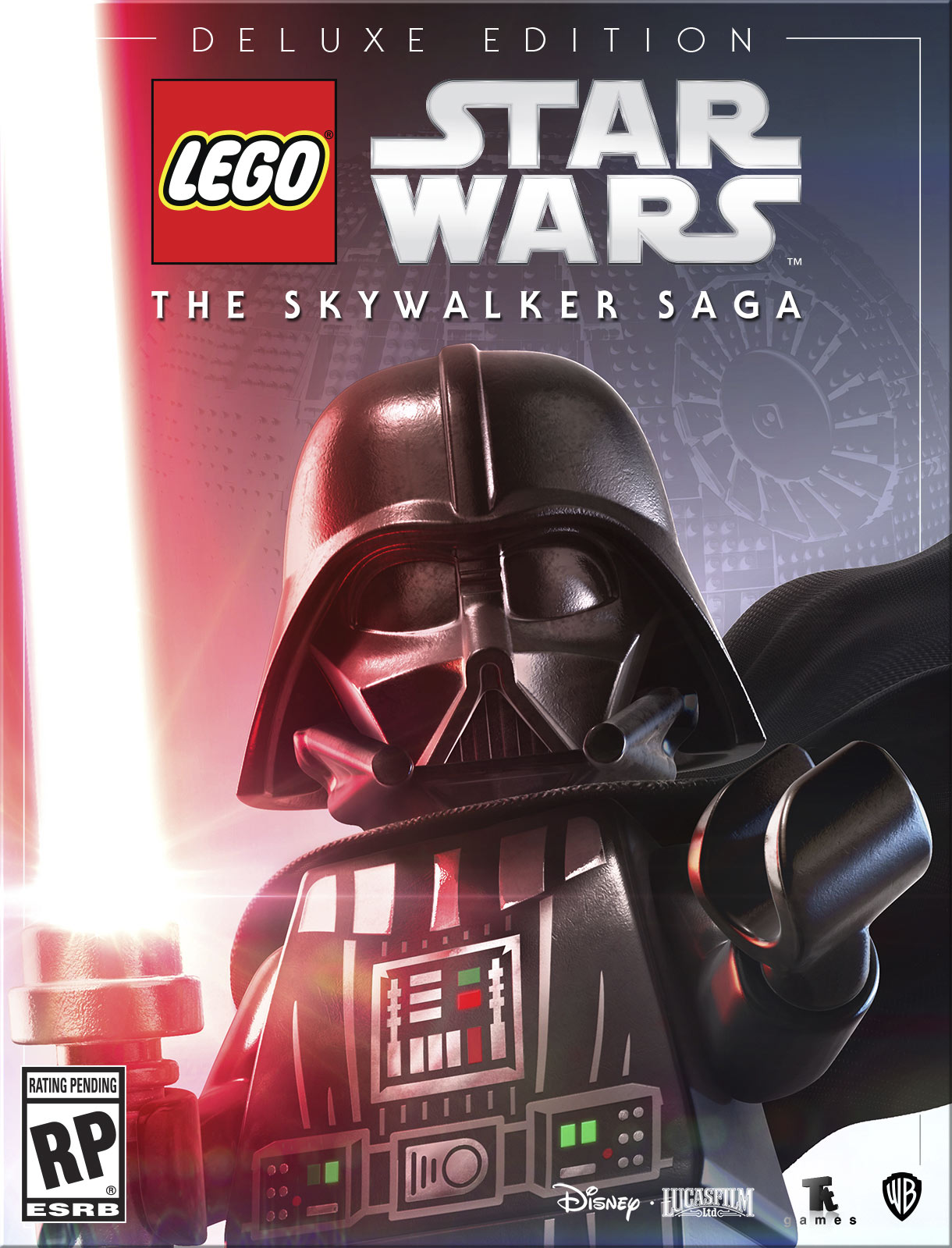 LEGO Star Wars: The Skywalker Saga Deluxe Edition box art with helmet