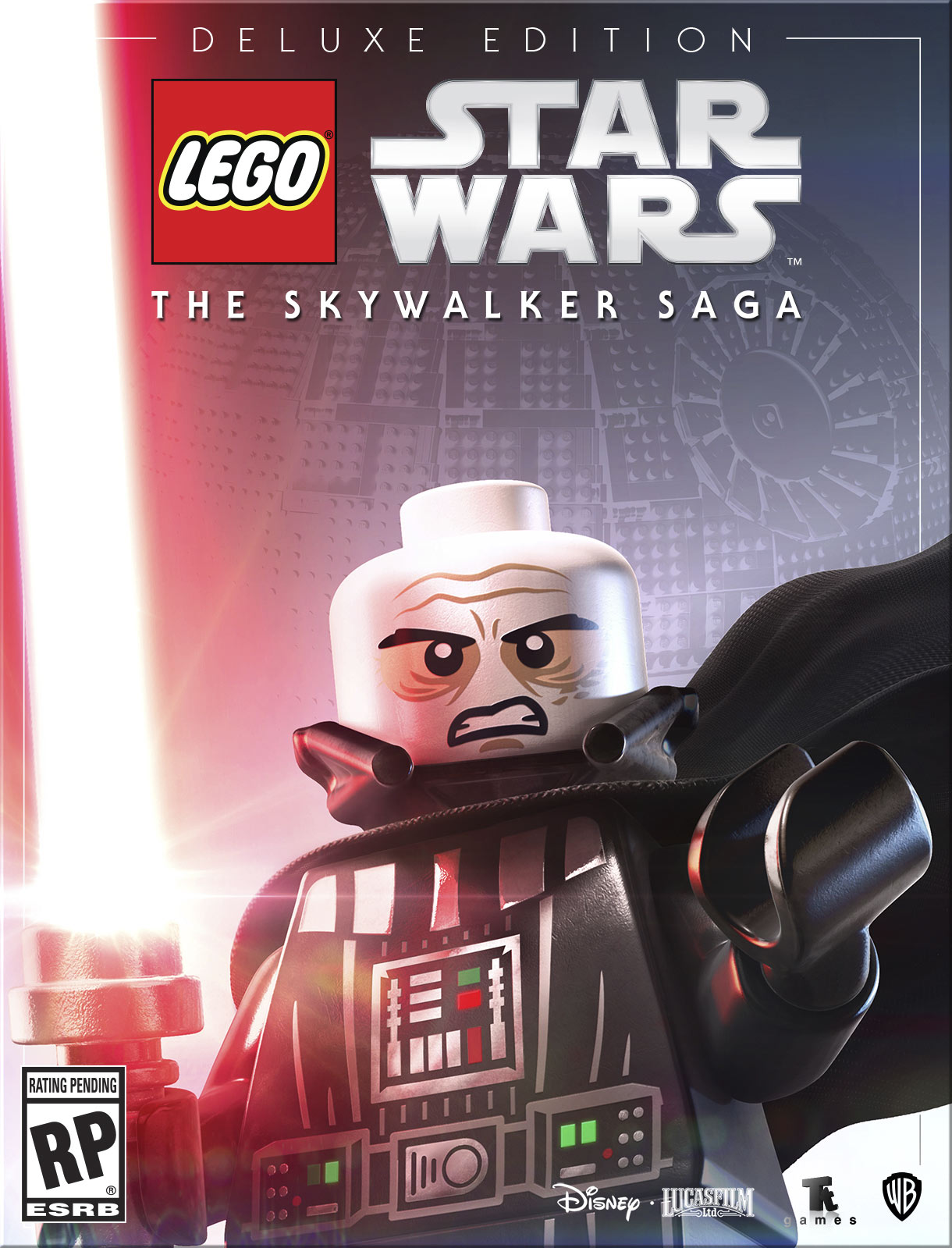 LEGO Star Wars: The Skywalker Saga Deluxe Edition box art without helmet