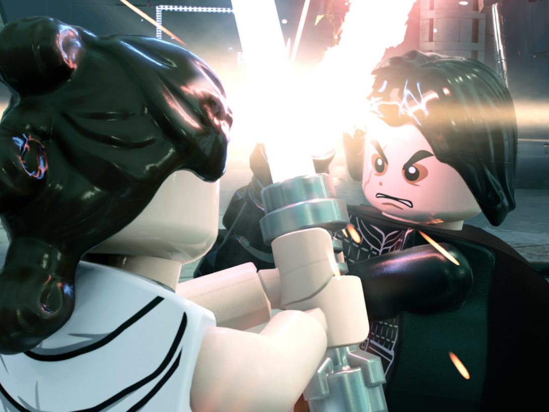 A scene from the LEGO Star Wars: The Skywalker Saga Trailer