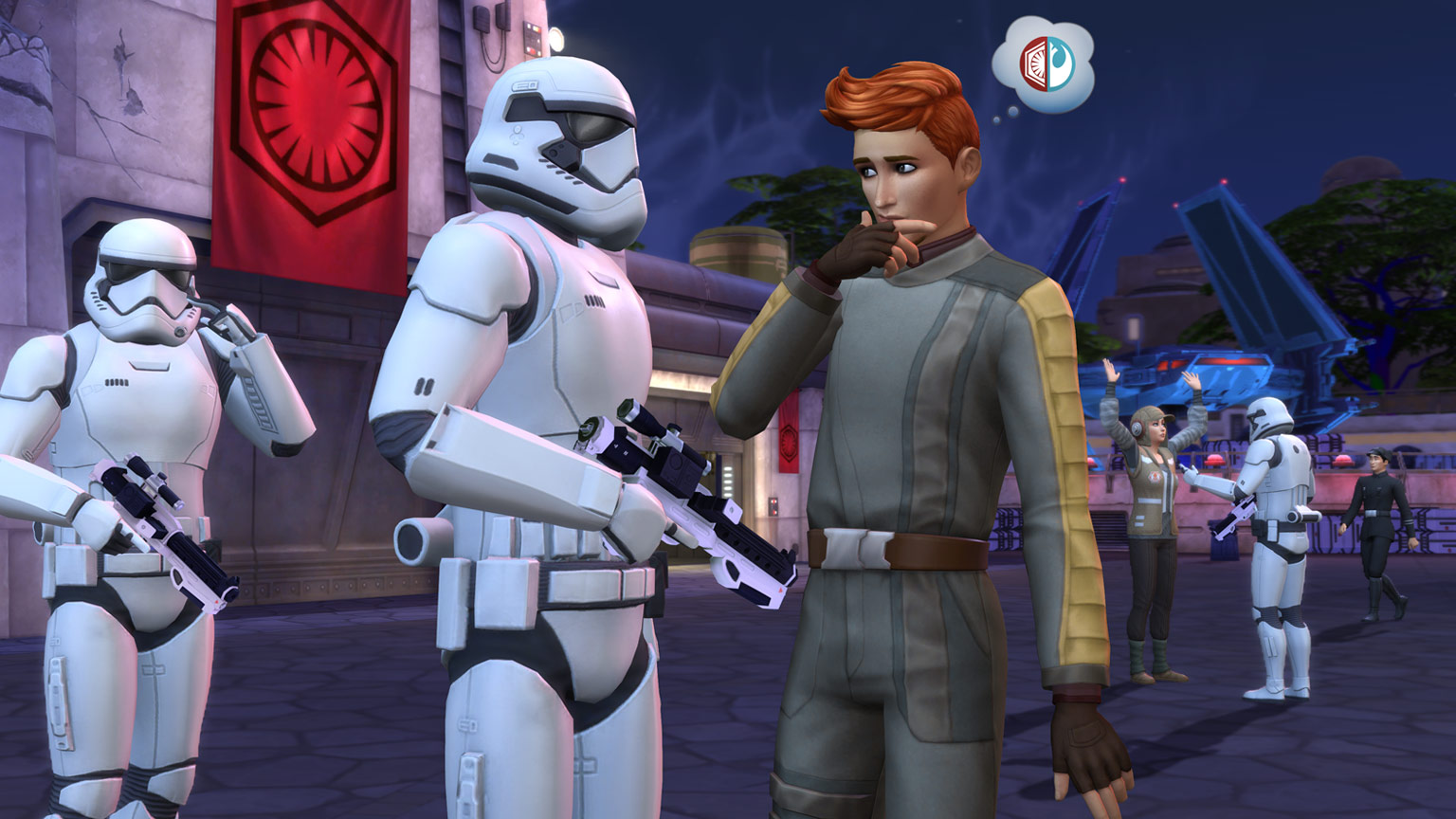A scene from The Sims 4 Star Wars: Journey to Batuu