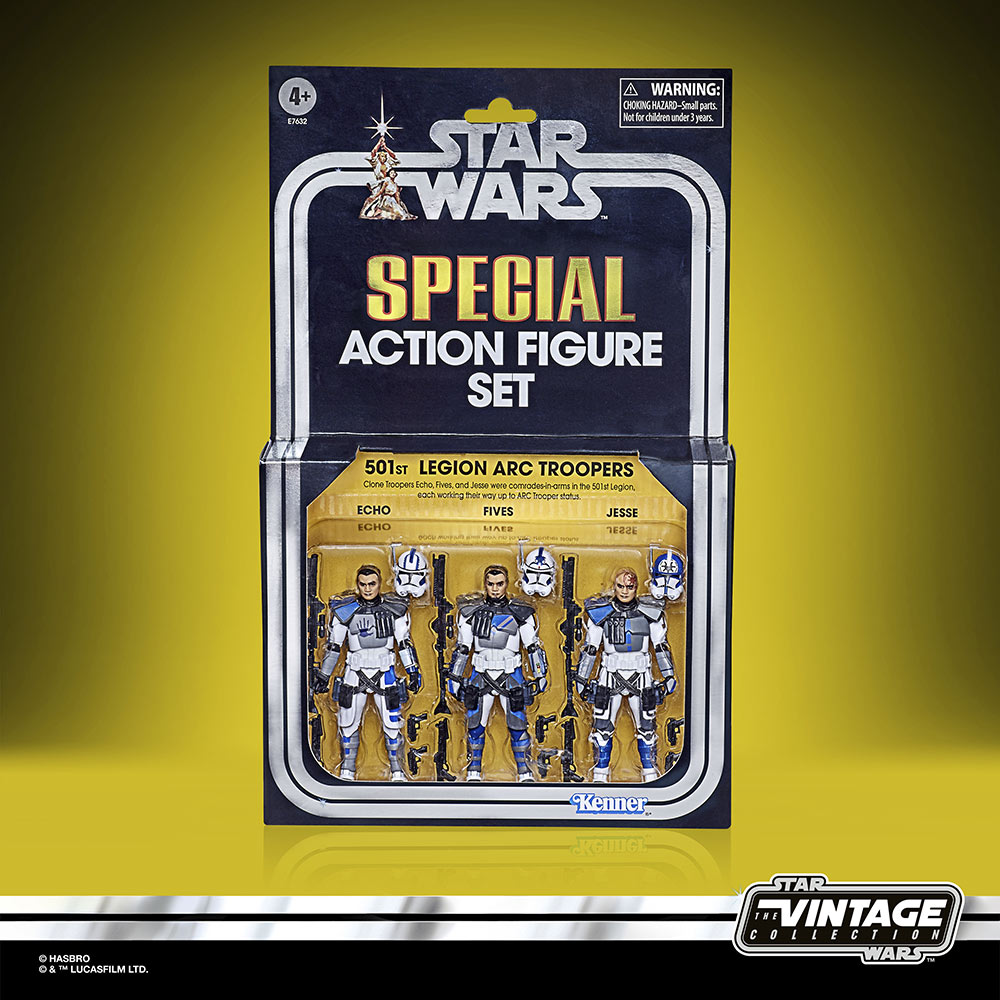 Star Wars: The Vintage Collection Star Wars: The Clone Wars 501st Legion ARC Troopers Figure 3-Pack box