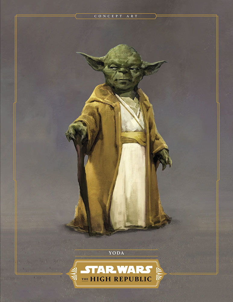 Star Wars: The High Republic Yoda temple attire concept art