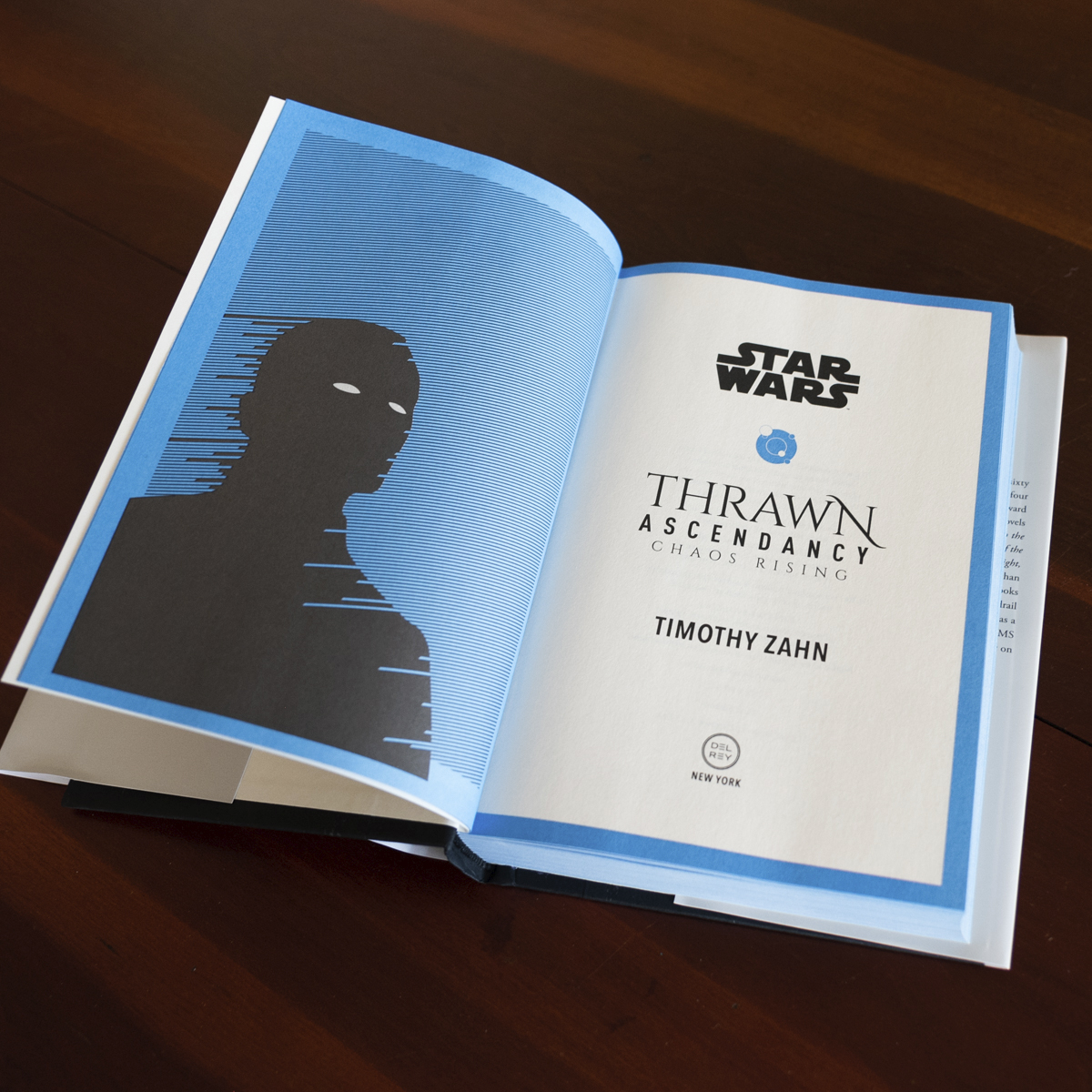 Thrawn Ascendancy: Chaos Rising blue pages