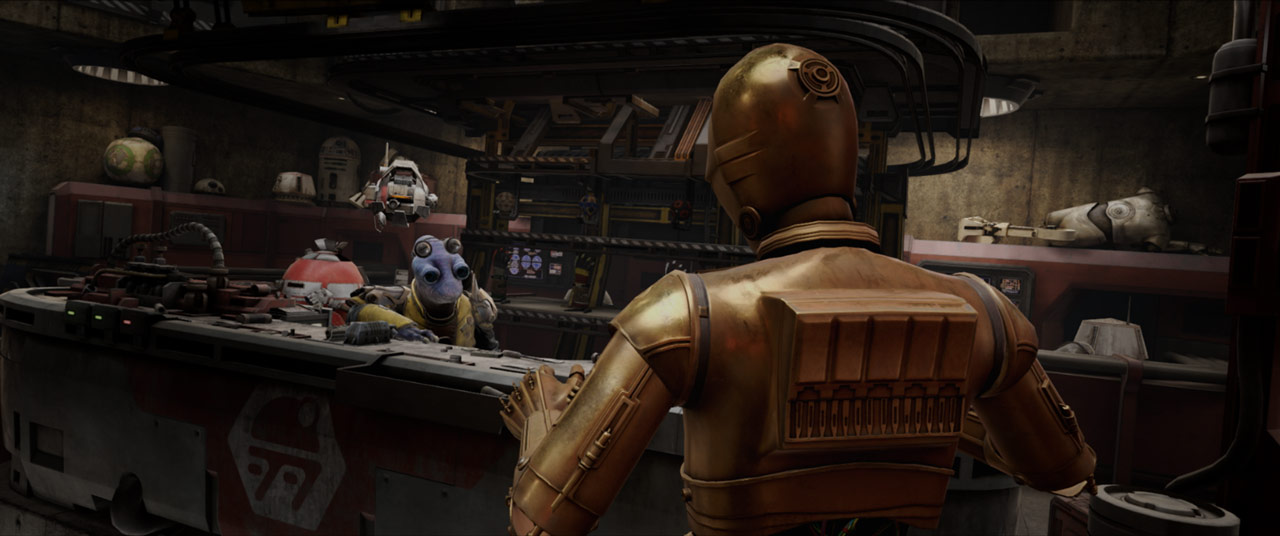 C-3PO in Star Wars: Tales from the Galaxy's Edge