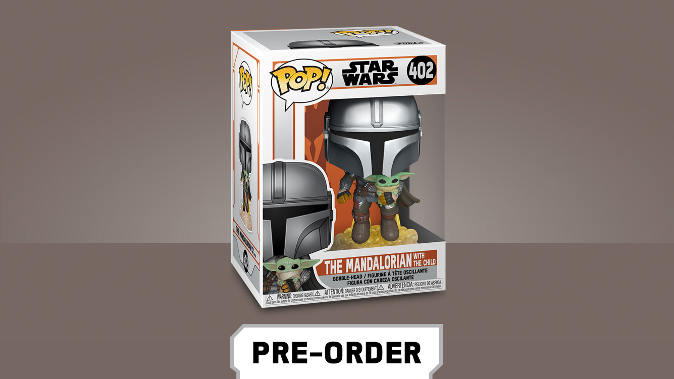 Funko Pop! bobbleheads the Mandalorian and the Child