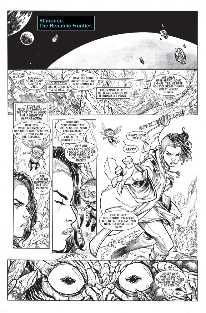 Marvel's Star Wars: The High Republic #1 page 1