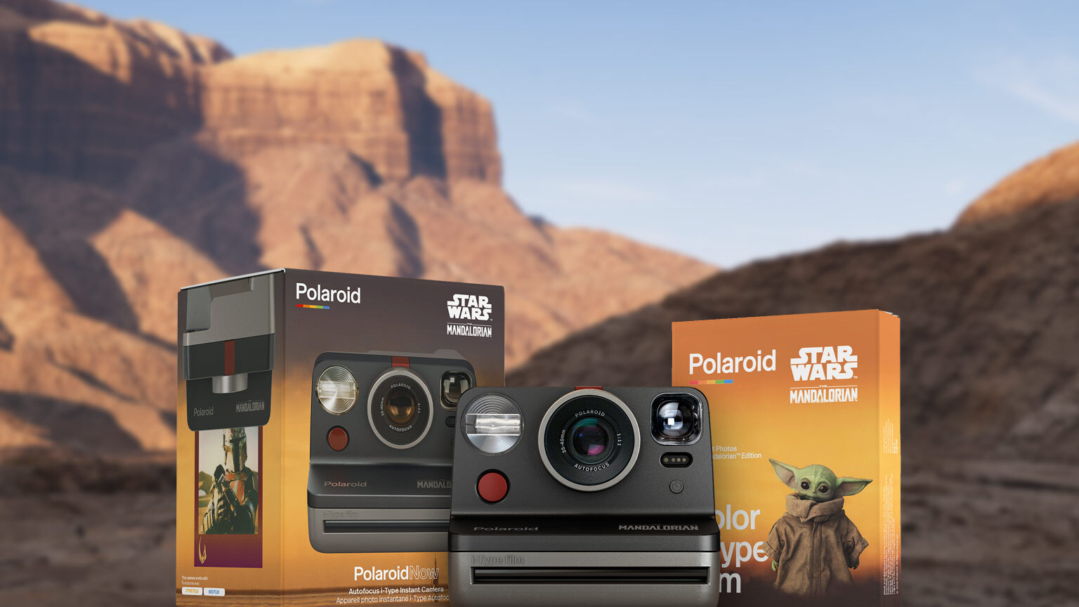 Polaroid's Mandalorian Camera box set