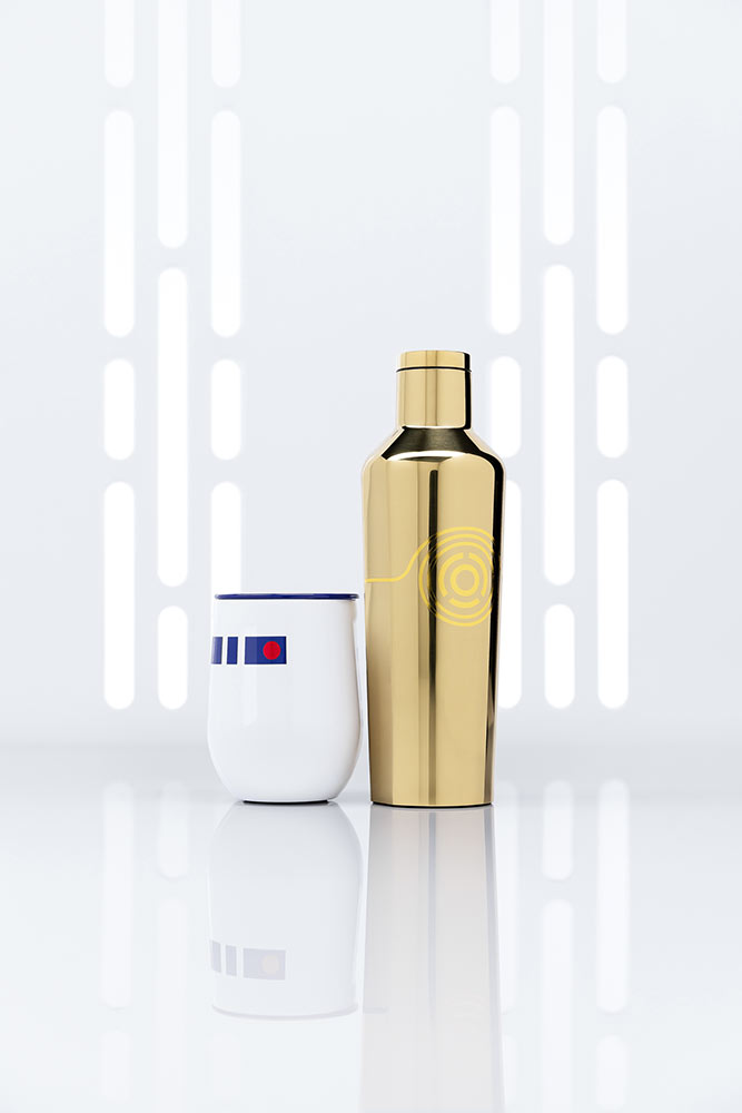 Star Wars x Corkcicle collection C-3PO and R2-D2 design
