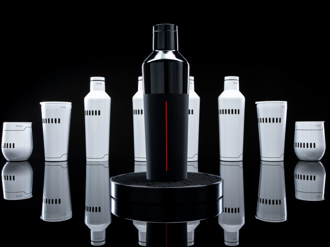 Star Wars x Corkcicle collection Darth Vader and Stormtrooper design