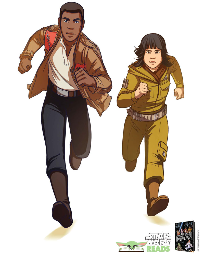 Star Wars Reads 2020 Finn and Rose poster