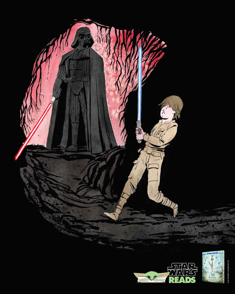 Star Wars Reads 2020 Luke and Darth Vader poster
