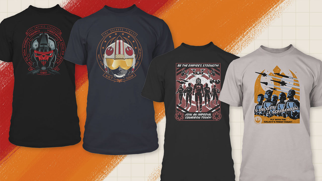 Star Wars: Squadrons tees