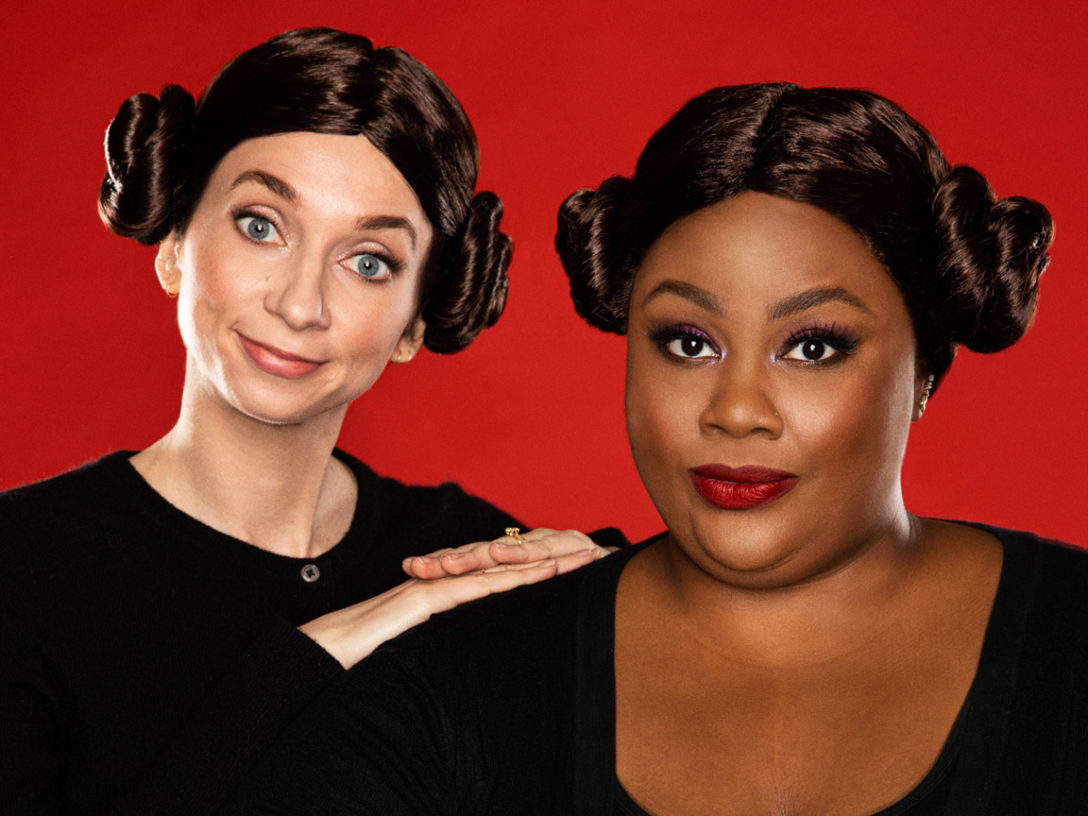 "Lauren Lapkus and Nicole Byer are the ""Newcomers."""