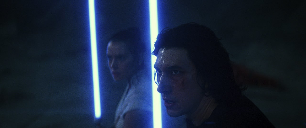 Kylo Ren and Rey on Exegol