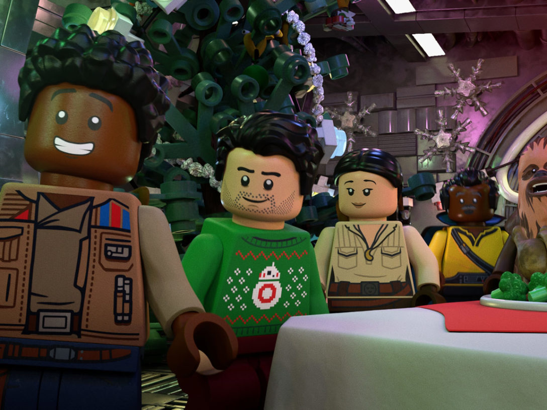 A scene from The LEGO Star Wars Holiday Special