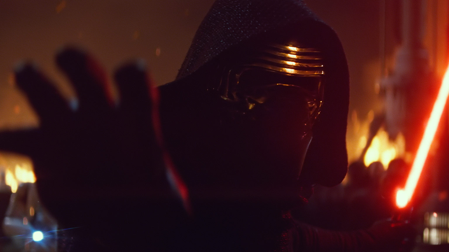 Kylo Ren in The Force Awakens
