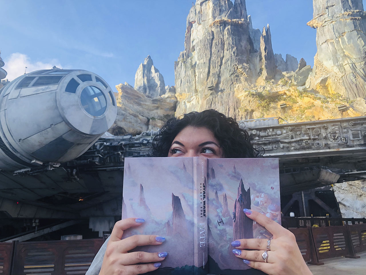 Zoraida Córdova at Star Wars: Galaxy's Edge