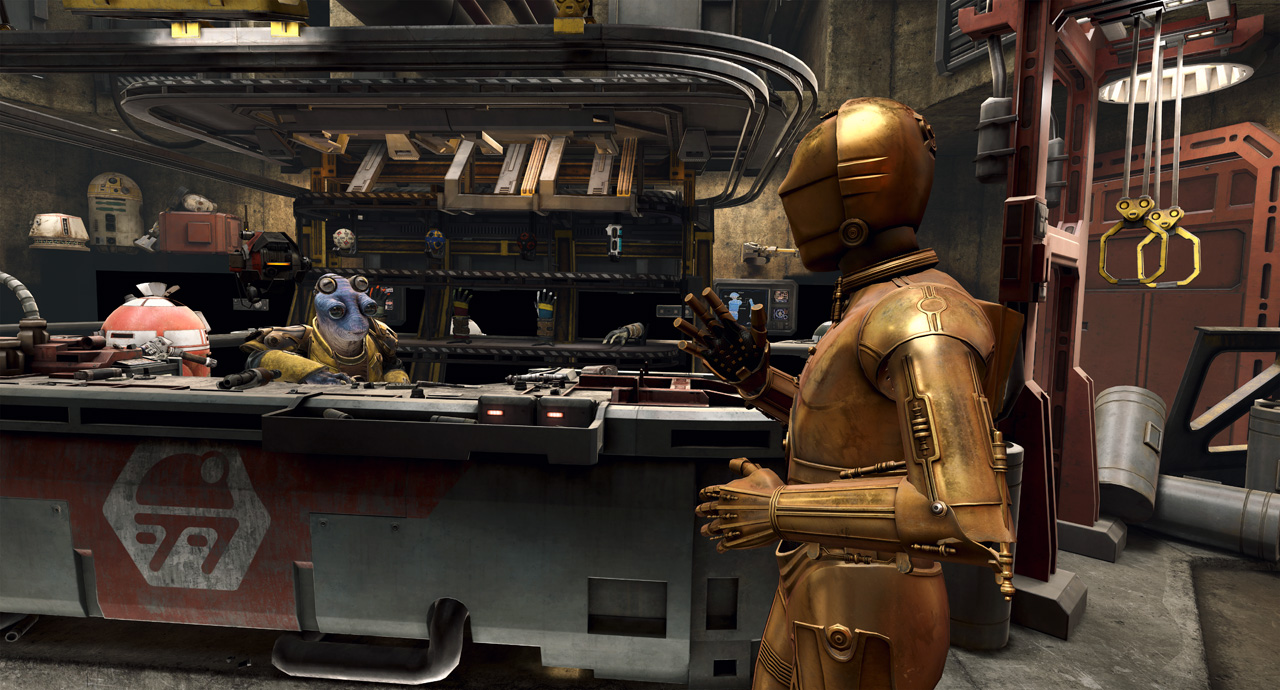 Star Wars: Tales from the Galaxy's Edge - C-3PO in cantina