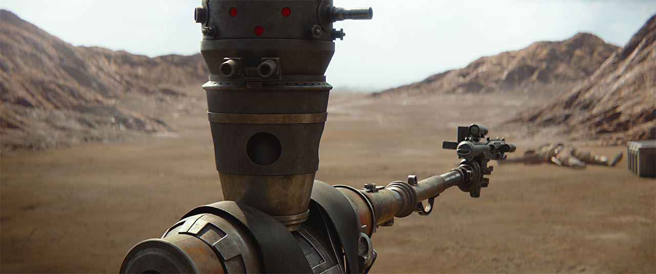 A scene from The Mandalorian CH 1