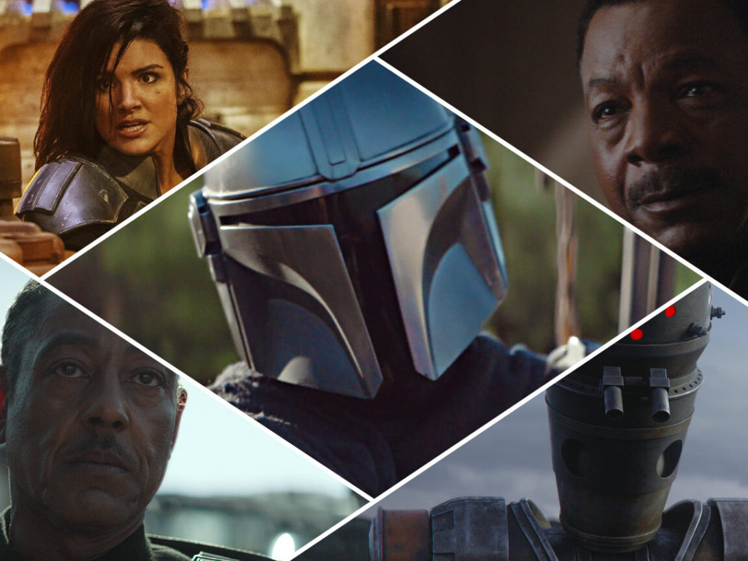 Characters from The Mandalorian.
