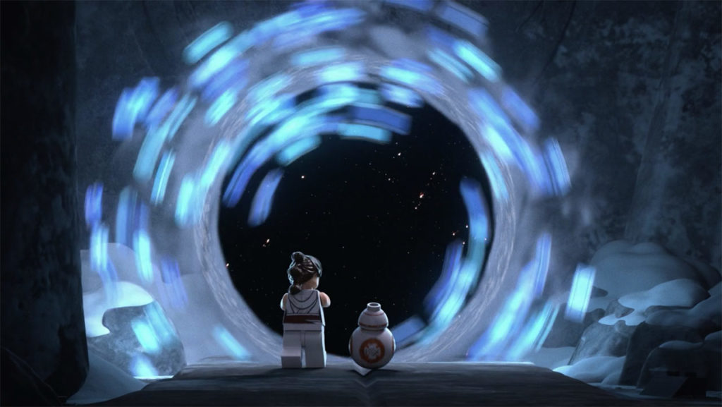 The portal in the LEGO Star Wars Holiday Special.