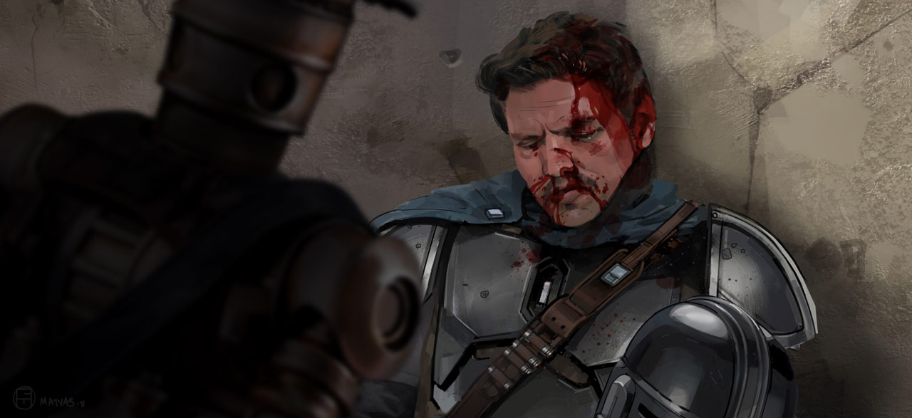 An excerpt from The Art of The Mandalorian