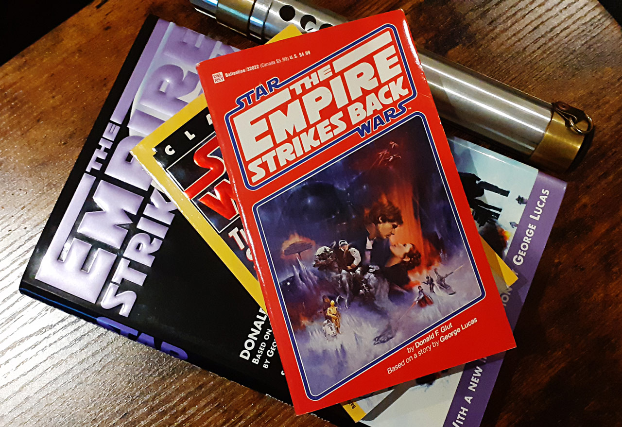 Empire Strikes Back novelization with red cover