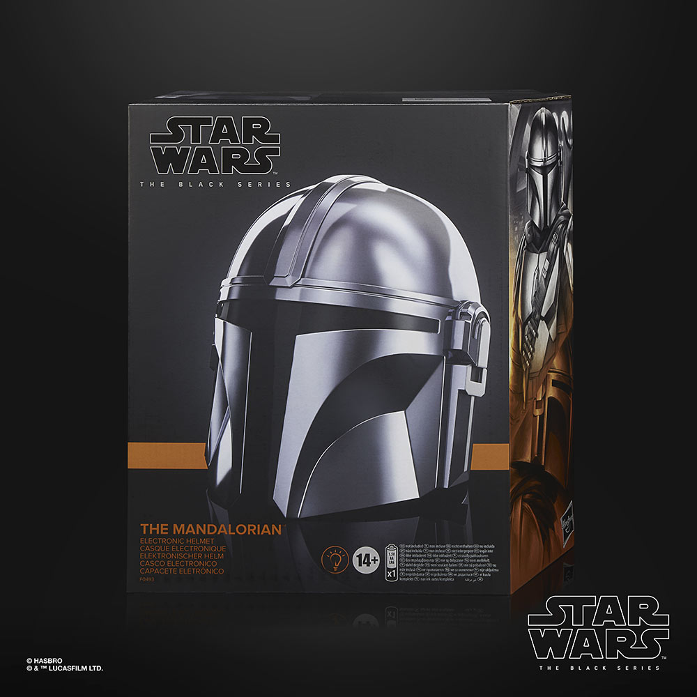 Hasbro's Star Wars The Black Series Mandalorian Electronic Helmet box