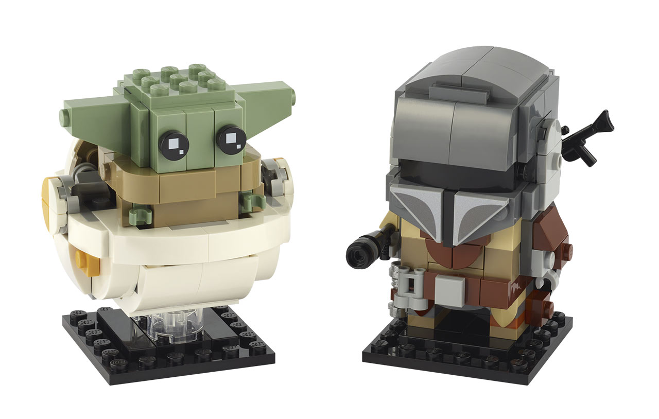 The Child and the Mandalorian from LEGO