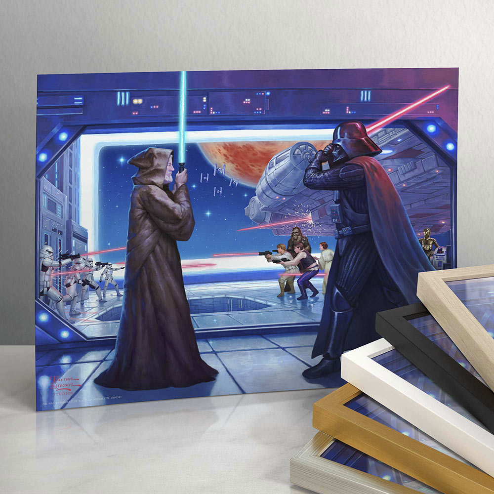 Obi-Wan's Final Battle art print from Thomas Kinkade Studios
